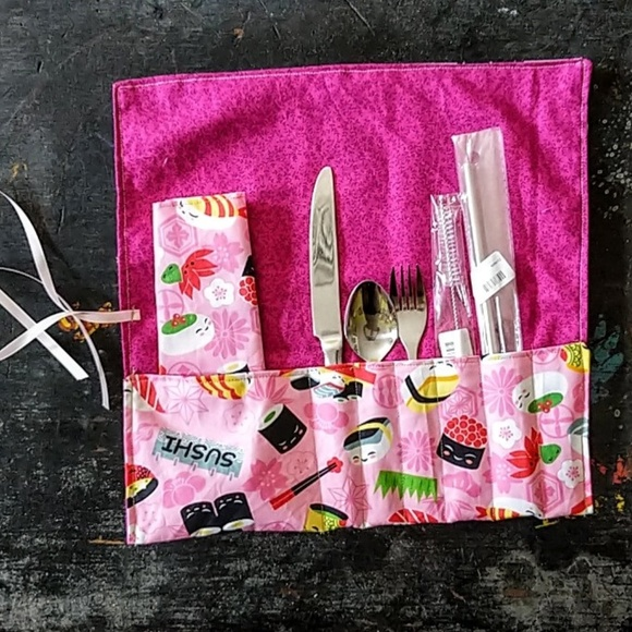 handcrafted Other - Zero Waste Reusable straw & utensils Kit NWT